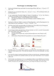 Berechnungen im rechtwinkligen Dreieck