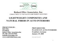 lightweight composites and natural fibers in auto interiors