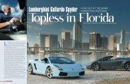 Lamborghini Gallardo Spyder in USA - Roberto Giordanelli