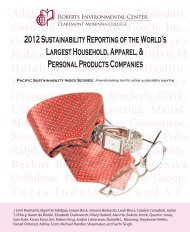 2012 Sustainability Reporting of the World's Largest Household ...