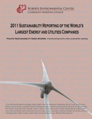 2011 Sustainability Reporting of the World's Largest Energy and ...