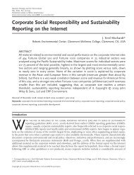 Corporate social responsibility and sustainability reporting - Roberts ...