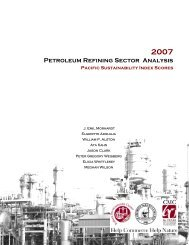 Petroleum Refining Sector Analysis - Roberts Environmental Center