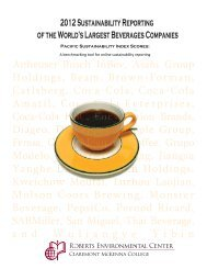 2012 Sustainability Reporting of the World's Largest Beverages ...