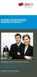 Banking & Finance - Duale Hochschule Baden-Württemberg Stuttgart
