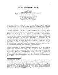 UTILISATION ÉQUITABLE AU CANADA La Loi sur le droit d'auteur ...