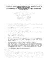 compilation préliminaire des décisions rendues au canada en 1998 ...