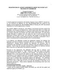 registration of licence agreements under the patent act