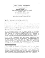 ASPECTS LÉGAUX DU MERCHANDISING Section I: L'importance ...