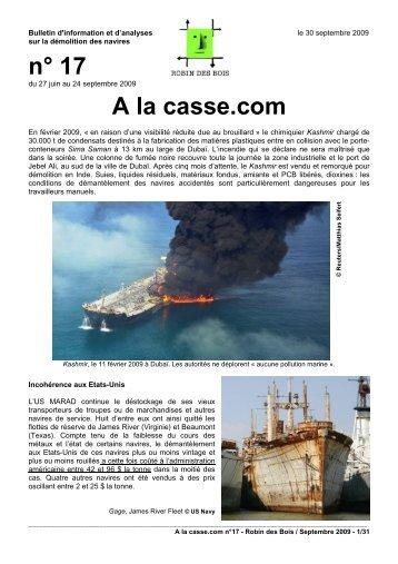 A la Casse.com n°17, septembre 2009 - pdf 31 ... - Robin des Bois
