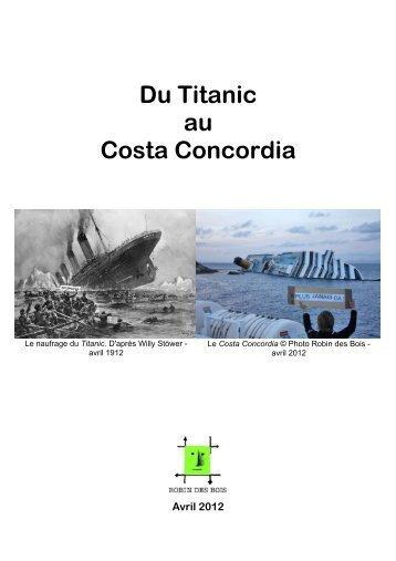 Du Titanic au Costa Concordia - Robin des Bois