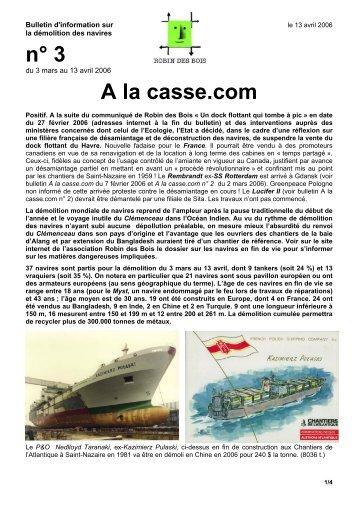 Bulletin d'information - Robin des Bois