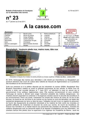 n° 23 A la casse.com - Robin des Bois