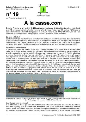 n° 19 A la casse.com - Robin des Bois