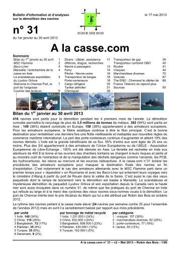 n° 31 A la casse.com - Robin des Bois