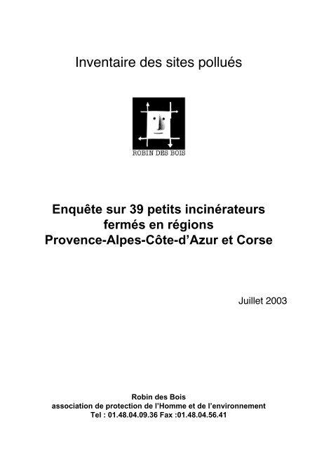 Inventaire des sites pollués