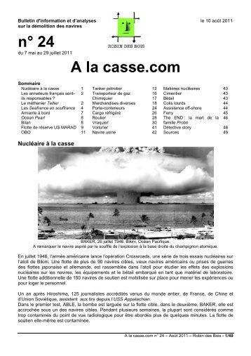 n° 24 A la casse.com - Robin des Bois