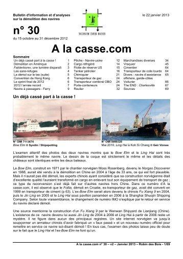 n° 30 A la casse.com - Robin des Bois