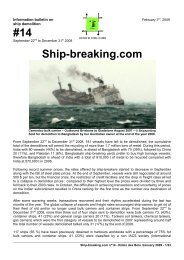 Ship-breaking.com #14, February 2009 - pdf 23 ... - Robin des Bois