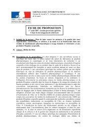 FICHE DE PROPOSITION - Robin des Bois