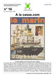 A la Casse.com n°16, juillet 2009 - Robin des Bois