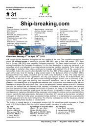 Ship-breaking.com # 31, April 2013 - Robin des Bois