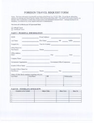 FOREIGN TRAVEL REQUEST FORM