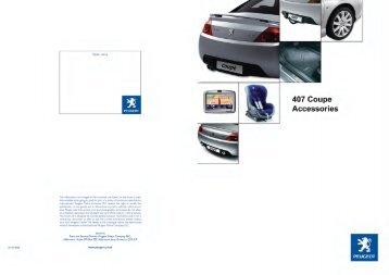peugeot 407 coupe accessories brochure pdf peugeot parts