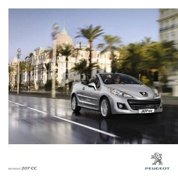 Peugeot 207 CC Brochure - S G Petch
