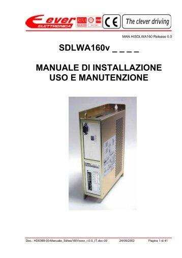 SDLWA160v _ _ _ _ MANUALE DI INSTALLAZIONE USO E ...