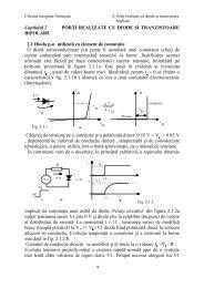 Porti realizate cu diode si tranzistoare bipolare