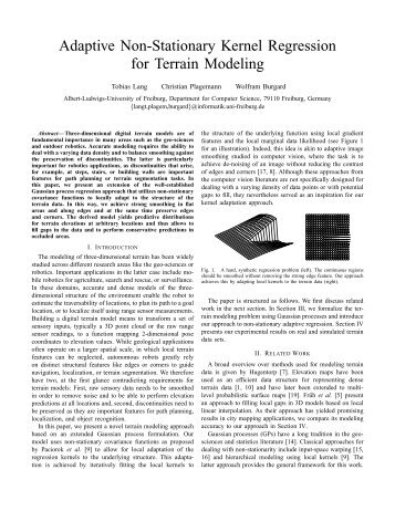Adaptive Non-Stationary Kernel Regression for Terrain Modeling