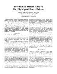 Probabilistic Terrain Analysis For High-Speed ... - Sebastian Thrun
