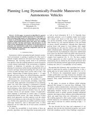 Planning Long Dynamically-Feasible Maneuvers for Autonomous ...