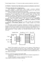 II. Circuite secventiale, proiectare ierarhizata, vectori de test ...