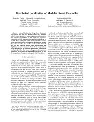 Distributed Localization of Modular Robot Ensembles - Robotics ...