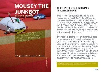 Build Mousey the Junkbot - RobotsAndComputers.com