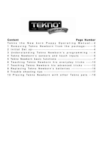 Tekno the Newborn Puppy - RobotsAndComputers.com