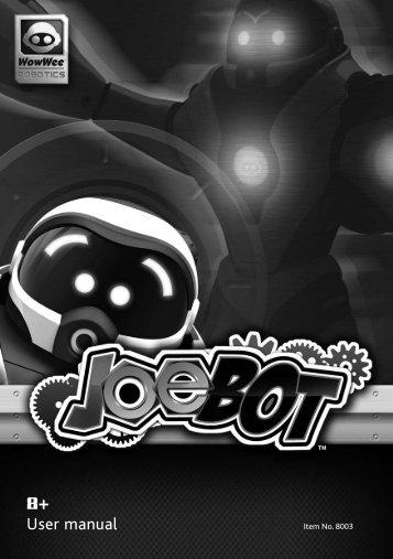 Joebot User manual - RobotsAndComputers.com
