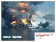 The Long Term Impacts of Adding Oil to - Robson Forensic, Inc.