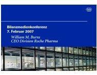 William M. Burns CEO Division Roche Pharma