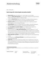 Roche-Gruppe 2011: Starkes Ergebnis und positiver Ausblick