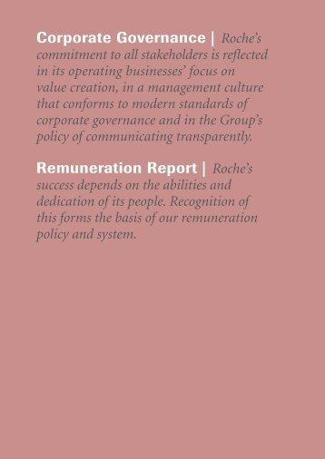 Roche Annual Report 09 - Corporate Governance and ...