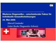 Marcel Gmünder Leiter Roche Diagnostics Schweiz