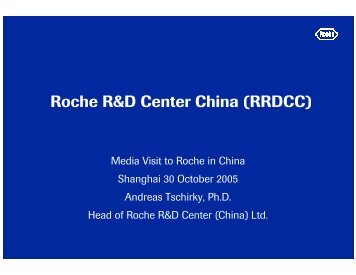 Roche R&D Center China (RRDCC)