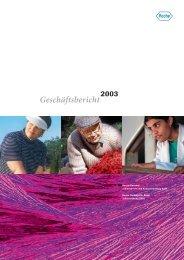 Geschäftsbericht 2003 - Roche