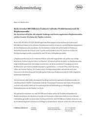 Roche investiert 800 Millionen Franken in weltweites ...
