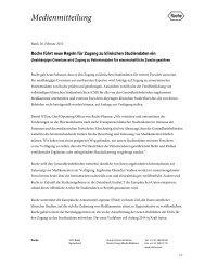Roche führt neue Regeln für Zugang zu klinischen Studiendaten ein