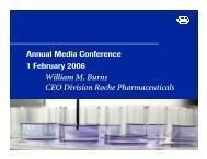 William M. Burns CEO Division Roche Pharmaceuticals