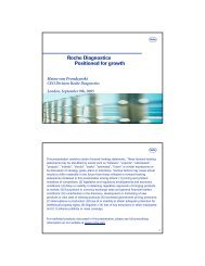 Roche Diagnostics Positioned for growth